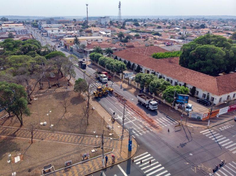 Canteiro central será demolido. Foto: Divulgação/Prefeitura