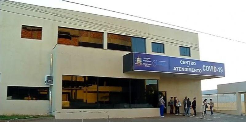 Centro de Atendimento exclusivo para pacientes com Covid-19 em Andradina — Foto: Reprodução/TV TEM