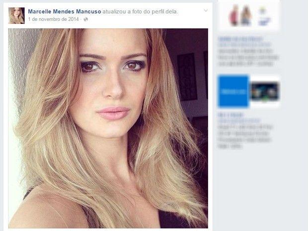Marcelle fraturou coluna após acidente em academia, em São José do Rio Preto (Foto: Reprodução/Facebook)