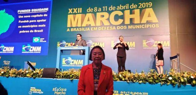 Prefeita Tamiko destaca o debate sobre o Fundeb como tema relevante da Marcha a Brasília em Defesa dos Municípios